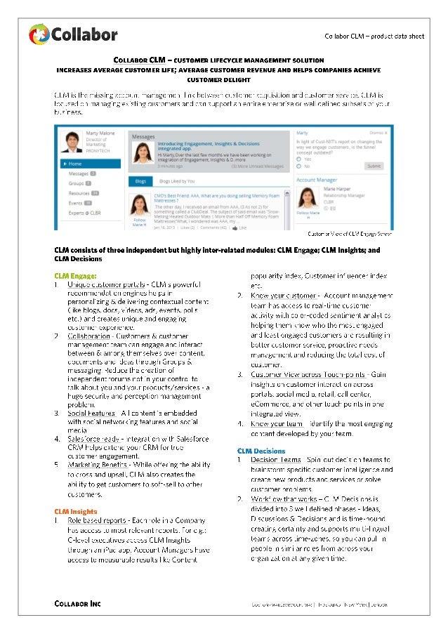 Datasheet - CLM, Customer Lifecycle Management