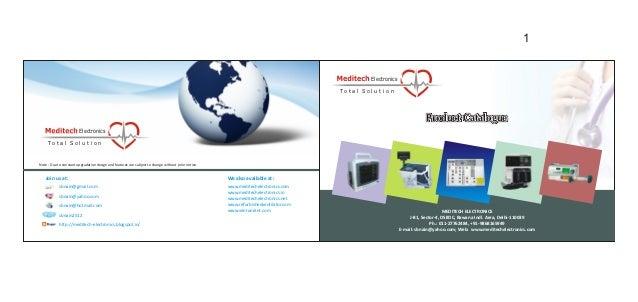Meditech Electronics, New Delhi, Medical And Instrumentation Equipment