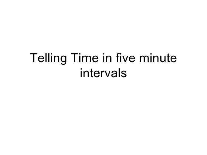 Telling Time in five minute intervals