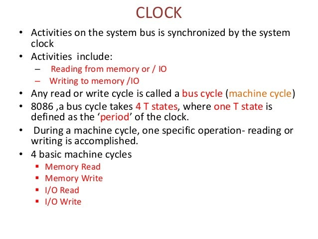 Clock-8086 bus cycle