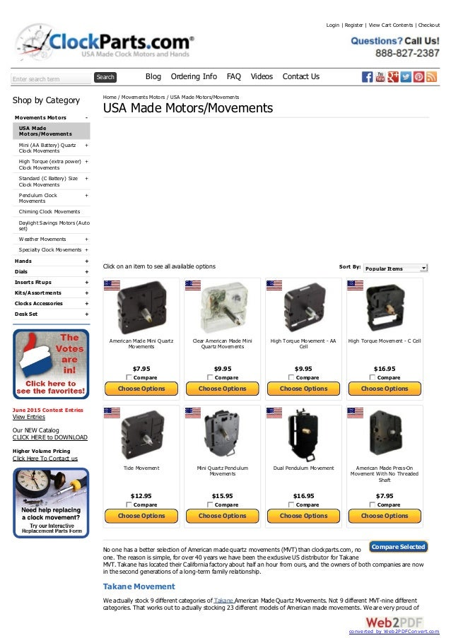 Enter search term Search Blog Ordering Info FAQ Videos Contact Us - + + + + + + + + + + + + Shop by Category Movements Mot...