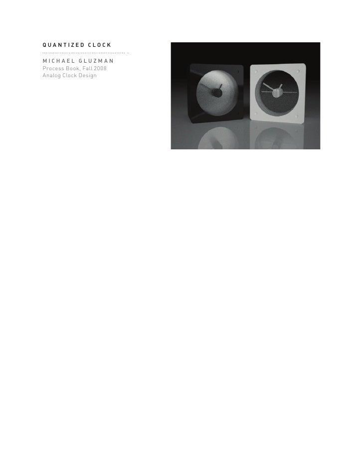 Clock Design Process Book