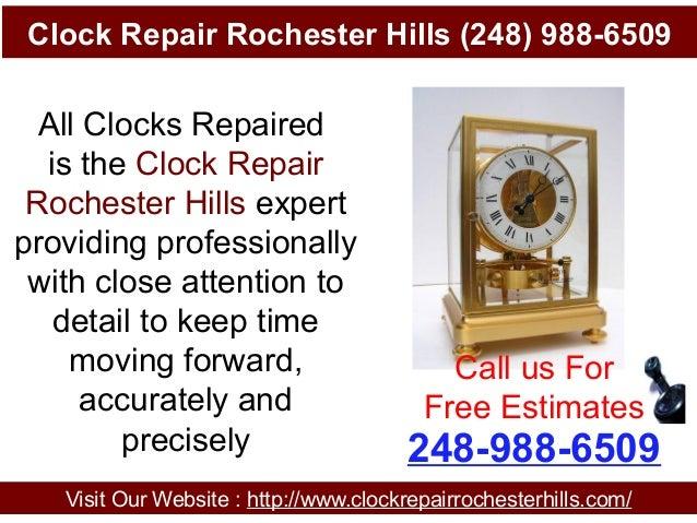 Clock Repair Rochester Hills (248) 988-6509 Visit Our Website : http://www.clockrepairrochesterhills.com/ 248-988-6509 Cal...
