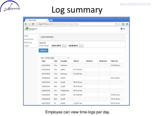 clock work mobile employee time tracking