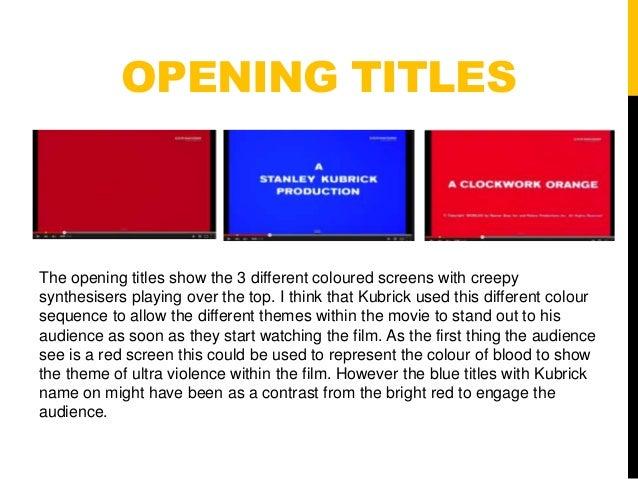 Clockwork orange opening analysis finished