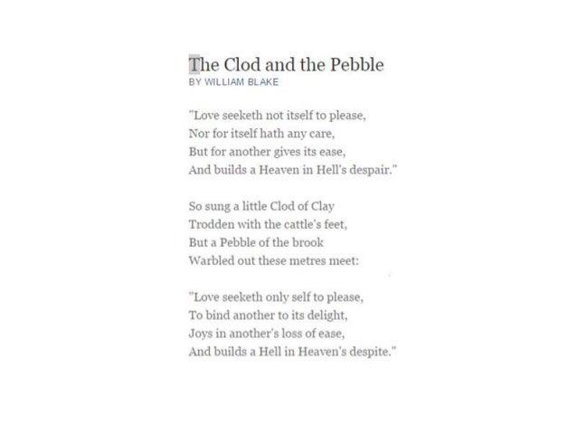 the clod and the pebble essay