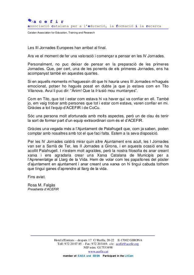 a c e f i rassociació catalana per a l'educació, la formació i la recercaCatalan Association for Education, Training and...