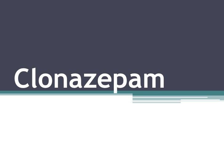 klonopin dosage forms slideshare linkedin