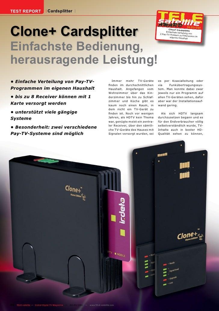TEST REPORT                  CardsplitterClone+ Cardsplitter                                                              ...