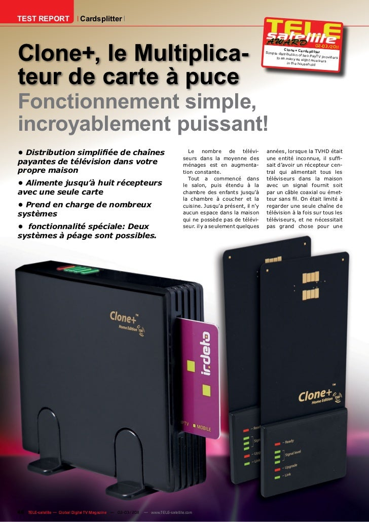 TEST REPORT                  CardsplitterClone+, le Multiplica-                                                           ...