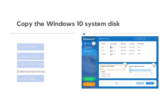 Clone or Migrate Windows 10 OS(C: Disk) to an External Hard