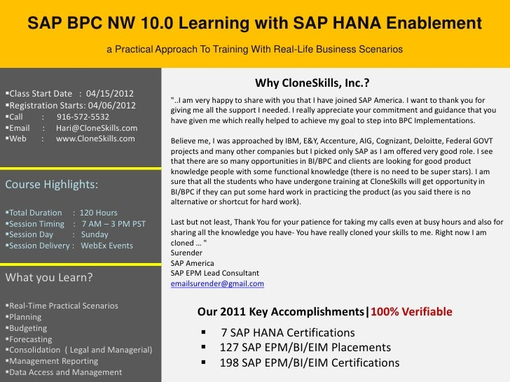 SAP BPC NW 10.0 Learning with SAP HANA Enablement                            a Practical Approach To Training With Real-Li...