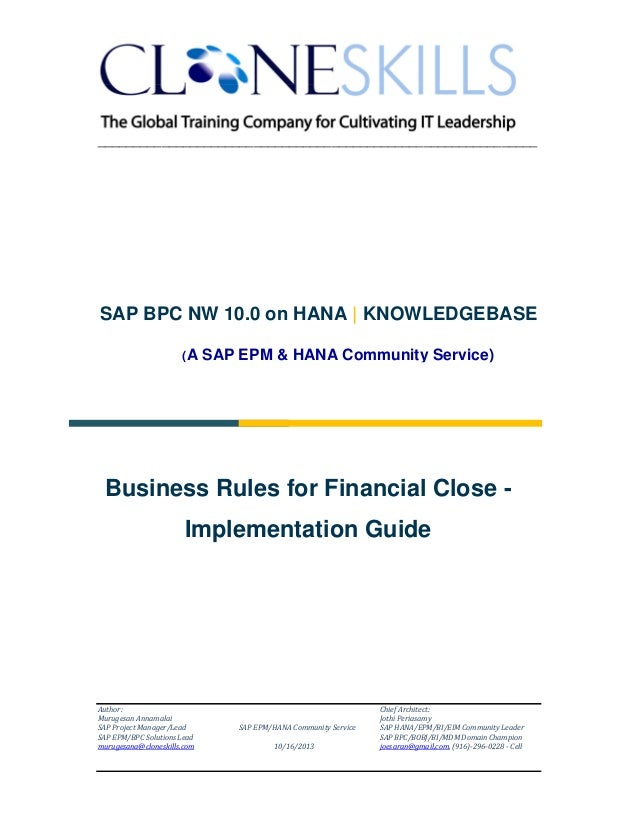 ______________________________________________________________  SAP BPC NW 10.0 on HANA | KNOWLEDGEBASE (A  SAP EPM & HANA...
