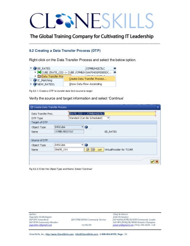 ______________________________________________________________ 9.2 Creating a Data Transfer Process (DTP) Right-click on t...