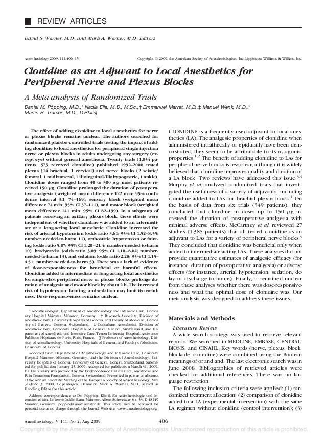 Ⅵ REVIEW ARTICLESDavid S. Warner, M.D., and Mark A. Warner, M.D., EditorsAnesthesiology 2009; 111:406 –15                 ...