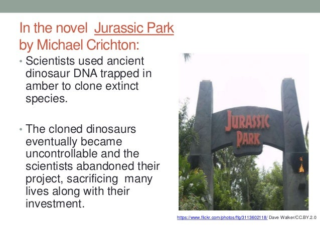 an overview of cloning of dinosaurs in jurassic park by michael crichton Buy a cheap copy of jurassic park and congo book by michael crichton  a dinosaur-viewing park called jurassic park for people to view the big lizards in the.