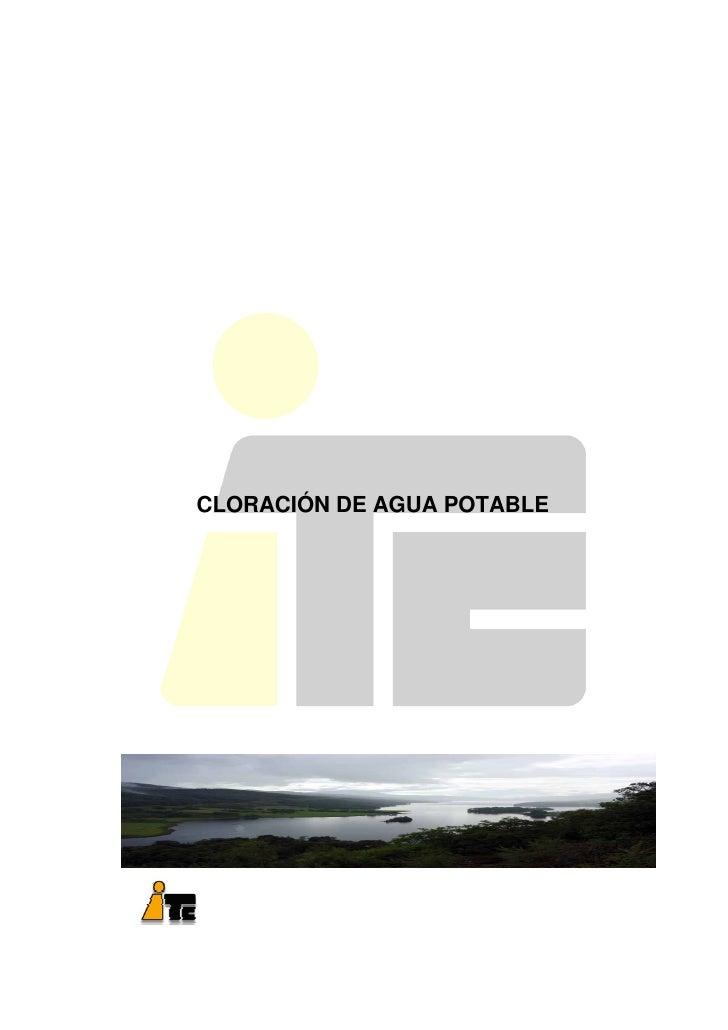 CLORACIÓN DE AGUA POTABLE