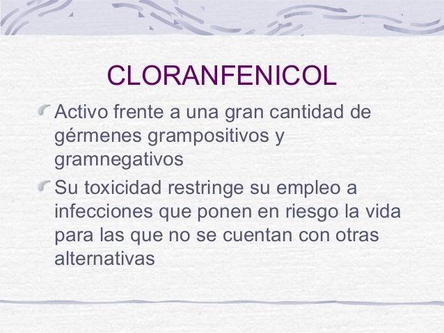 Cloranfenicol. Slide 3