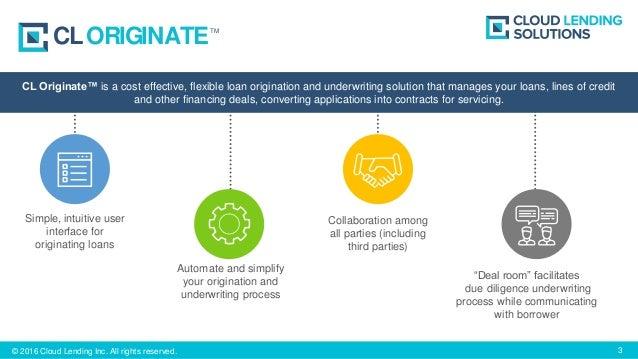 Loan Origination Software - CL Originate | Cloud Lending