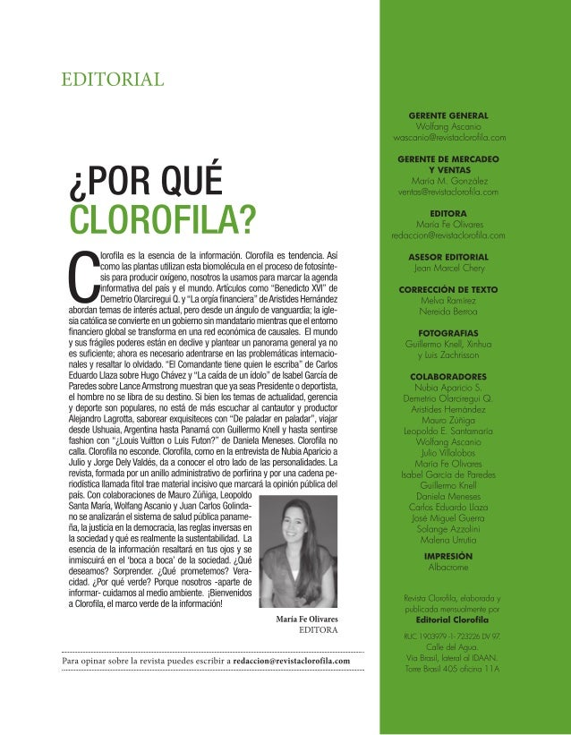 Editorial Clorofila