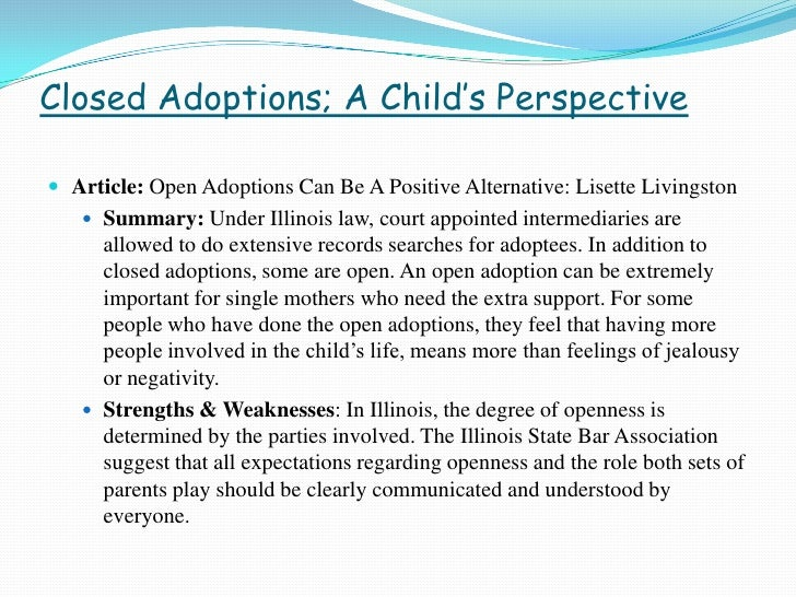 what is a open adoption