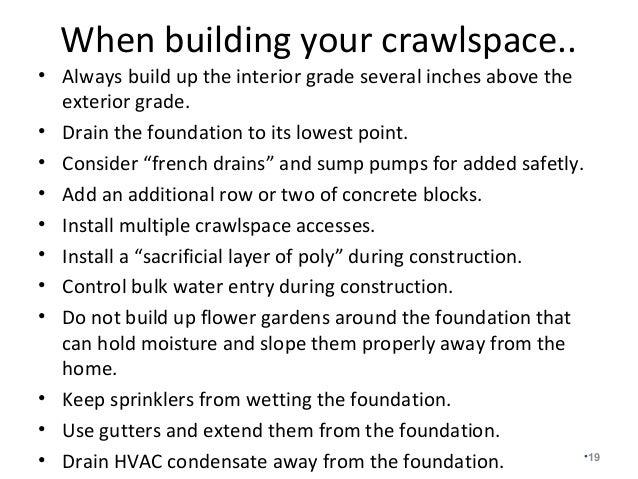 Closed Conditioned Crawlspace Construction