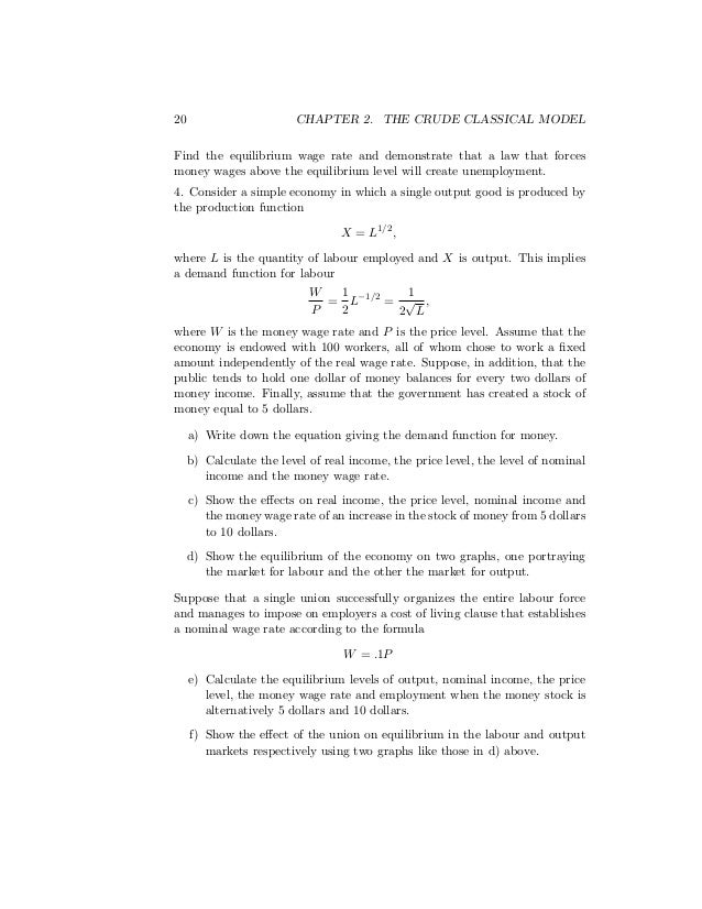 how to calculate the equilibrium level of output