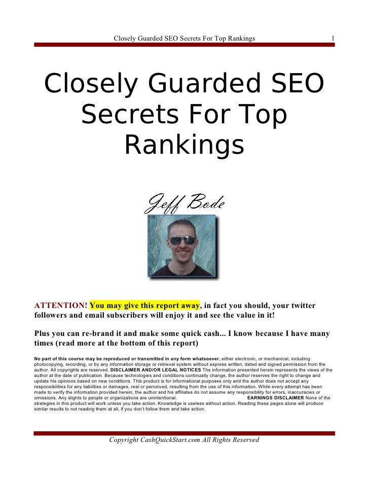 Closely Guarded SEO Secrets For Top Rankings                                                          1         Closely Gu...