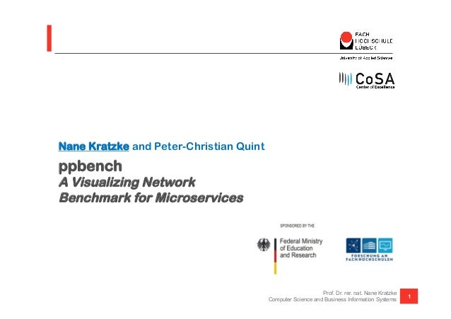 ppbench A Visualizing Network Benchmark for Microservices Nane Kratzke and Peter-Christian Quint 1 Prof. Dr. rer. nat. Nan...