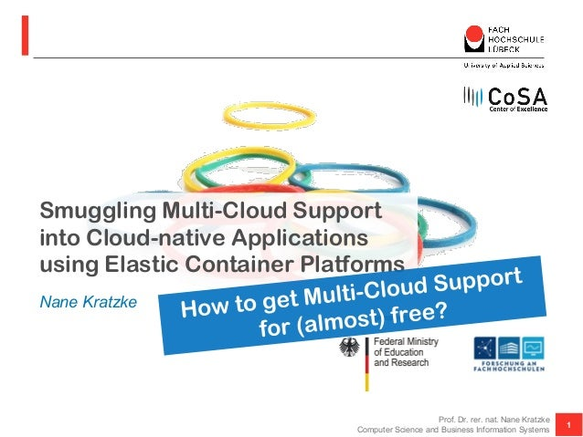 Smuggling Multi-Cloud Support into Cloud-native Applications using Elastic Container Platforms 1 Prof. Dr. rer. nat. Nane ...