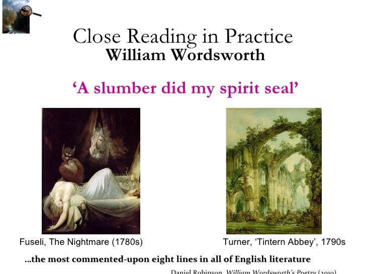 A Slumber Did My Spirit Seal - Poem by William Wordsworth