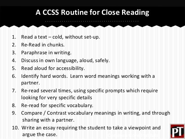 close reading essay introduction Introduction: i've prepared this (connections: writing, reading and critical thinking) close with a thought-provoking question.