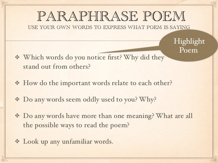 how to write a close reading of a poem