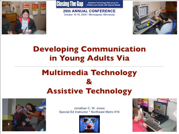 26th ANNUAL CONFERENCE         October 16-18, 2008 • Minneapolis, Minnesota     Developing Communication    in Young Adult...
