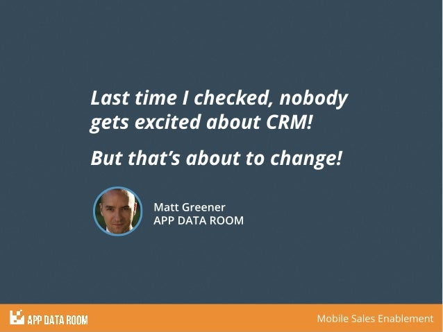 App Data Room - Closing The Gap Between Sales and Marketing Slide 3