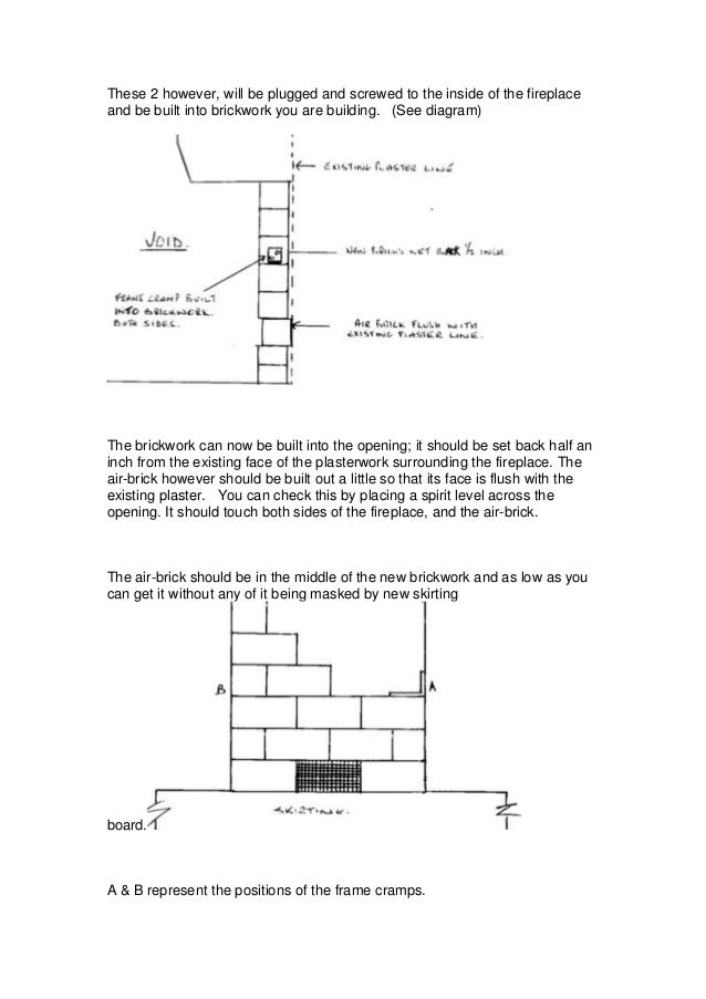 Fireplace Design fireplace diagram : Closing and opening an existing fireplace