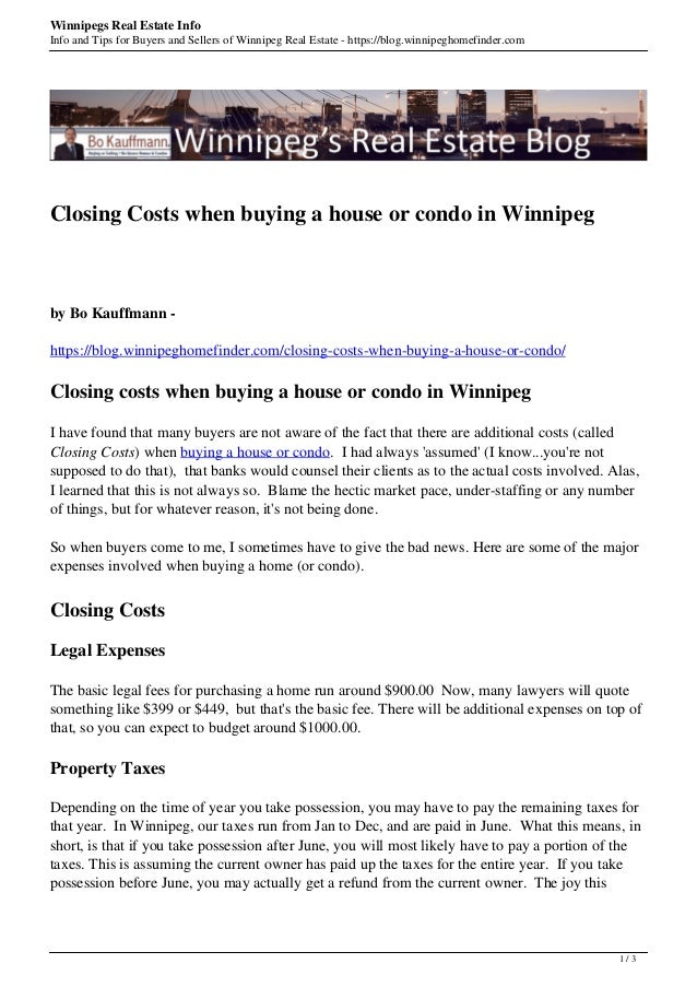 Winnipegs Real Estate Info Info and Tips for Buyers and Sellers of Winnipeg Real Estate - https://blog.winnipeghomefinder....