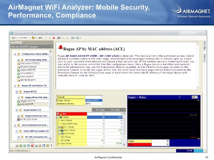 Airmagnet Wifi Analyzer : Closing pci wifi loopholes with airmagnet enterprise