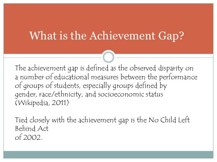 closing achievment gap Closing the achievement gap specialist academic, behavior and attendance discrepancies, often referred to as gaps, can exist among student groups.