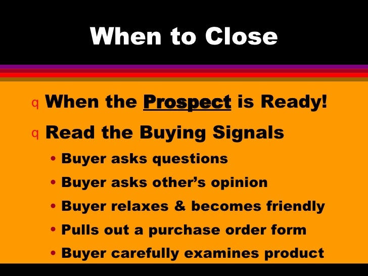 how to close the sale