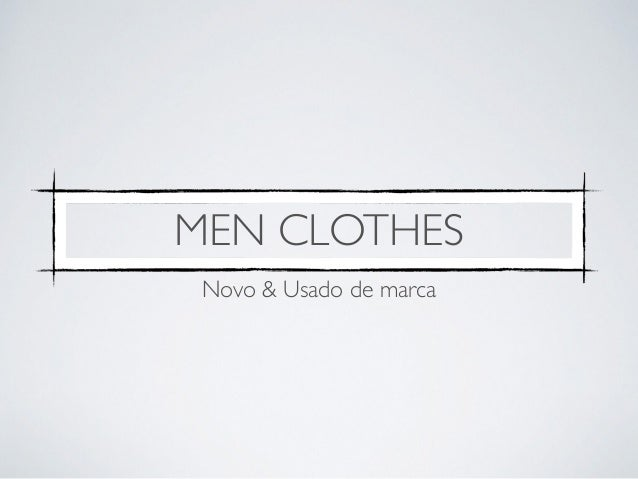 MEN CLOTHES  Novo & Usado de marca