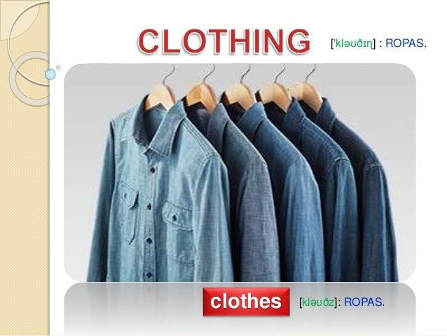 clothes vocabulary ropas 1 638