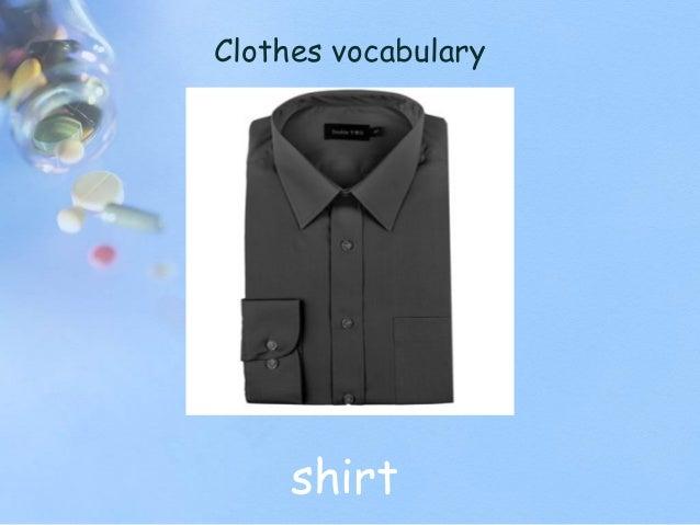 Clothes vocabulary shirt