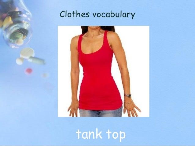 Clothes vocabulary tank top