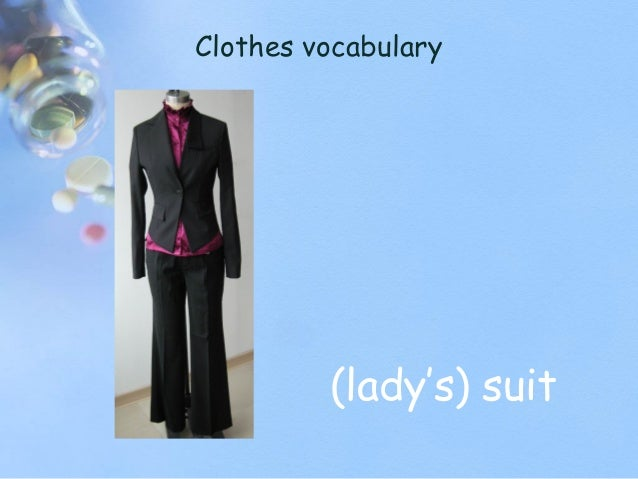 Clothes vocabulary (lady's) suit