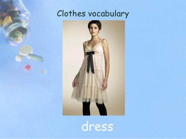 Clothes vocabulary dress