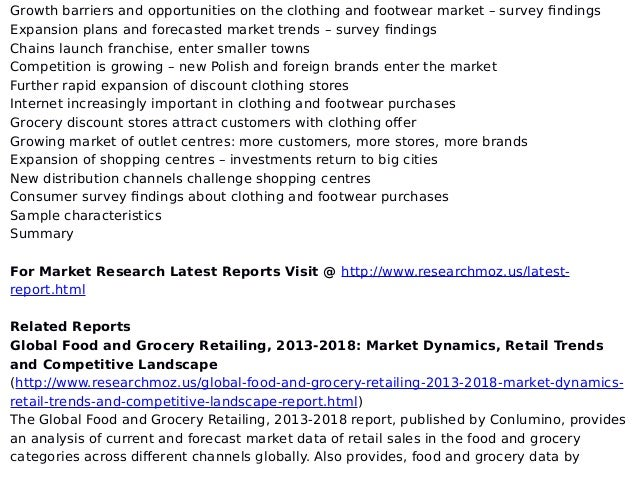 clothing and footwear retail market in Clothing and textile market trends footwear footwear industry research reports: shoe market analysis & statistics and online and retail distribution channels.