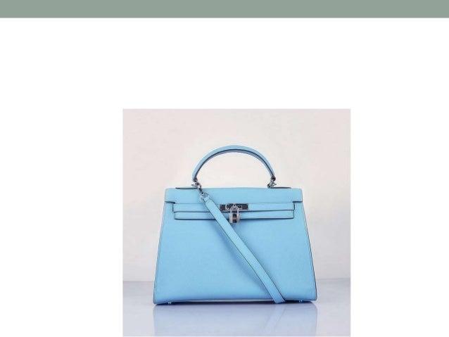 A medium-sized, light blue, designer, leather handbag /purse