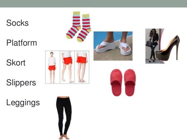 Socks Platform Skort Slippers Leggings