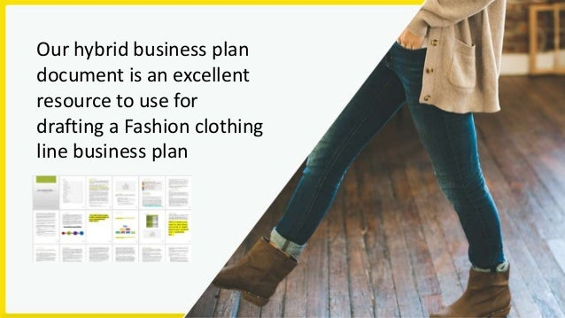 Clothing Fashion Design Business Plan Template - Clothing business plan template